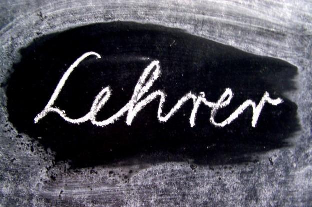 Schrift an der Tafel