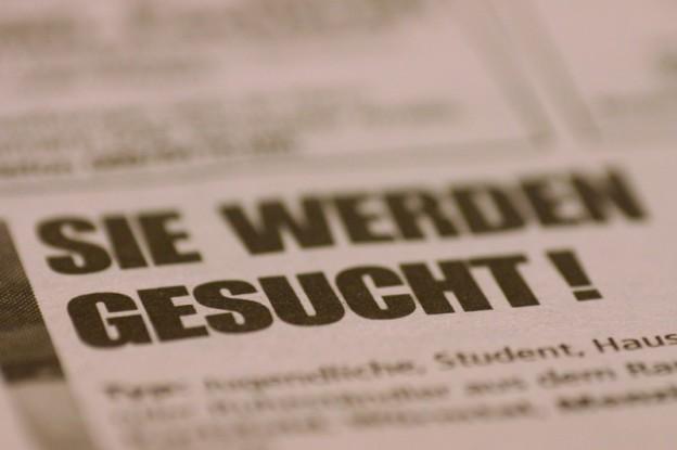 Stellenangebot in Zeitung