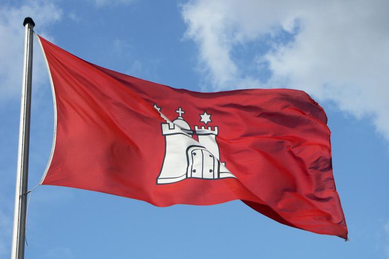 Flagge Hamburgs